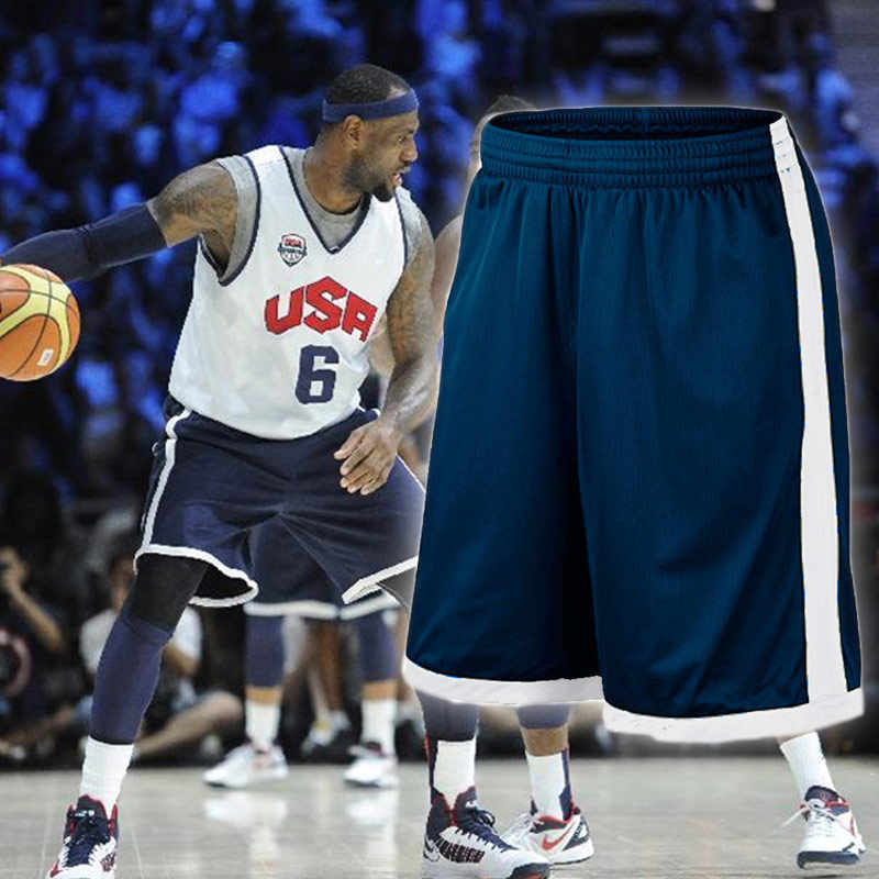 EU Men Basketball Shorts Plus Size Team USA Basketball Shorts with Pocket Men Training Basketball Short Quick Dry Running Shorts