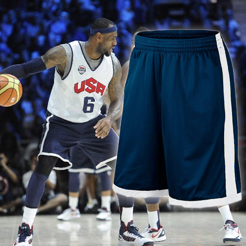 EU Men Basketball Shorts Plus Size Team USA Basketball Shorts with Pocket Men Training Basketball Short Quick Dry Running Shorts drawstring plus size sweat shorts