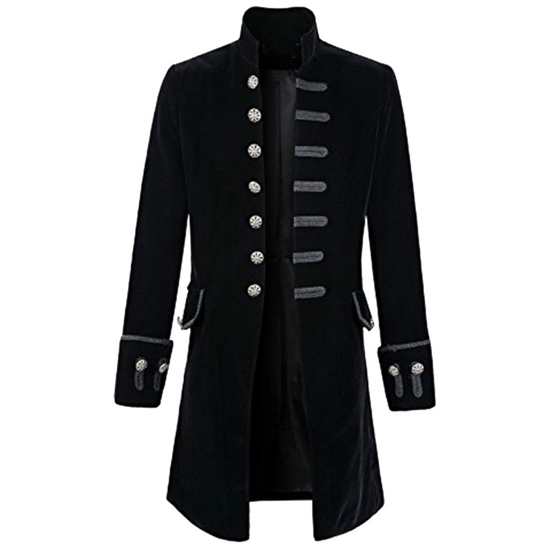 Jackets The Cheapest Price Nibesser Casual Men Outerwear Plus Size Gothic Military Parade Jacket Tunic Winter Autumn Fashion Rock Black Steampunk Army Coat