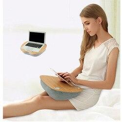 Mesa portátil multifunción rodilla Lap Desk para ordenador de 14 pulgadas teléfono Flip portátil al aire libre reposacabezas Oficina hogar almohada