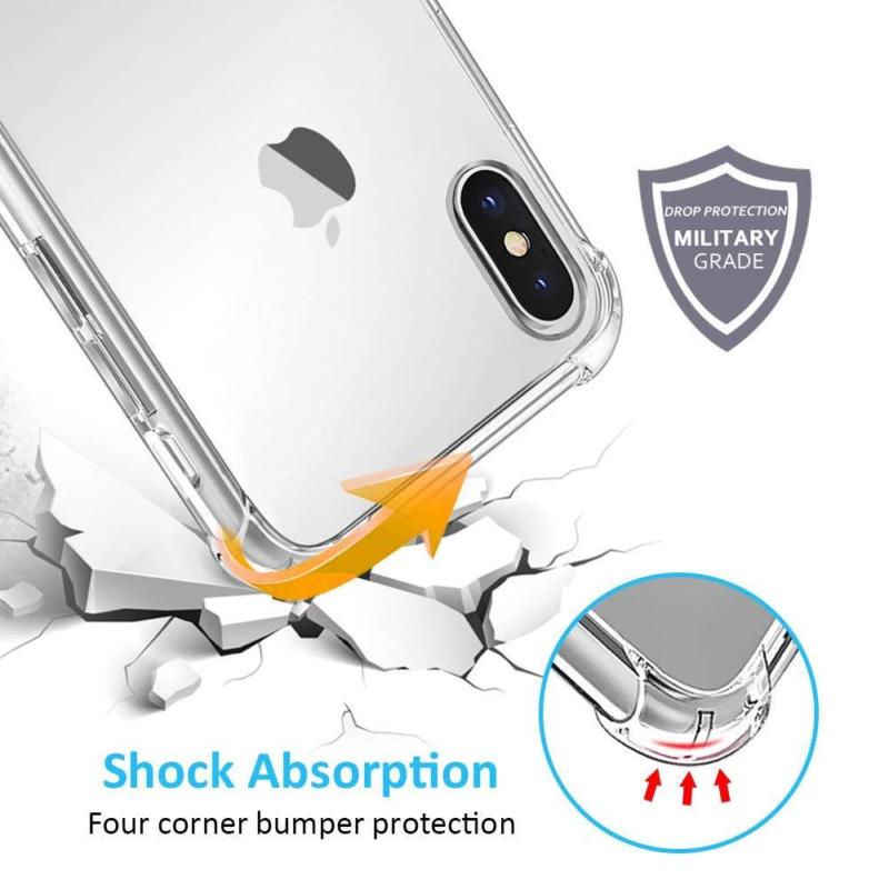 صدمات الوفير حماية شفافة الهاتف حقيبة لهاتف أي فون 11 X XS XR XS Max 8 7 6 6S زائد واضح سيليكون الغطاء الخلفي