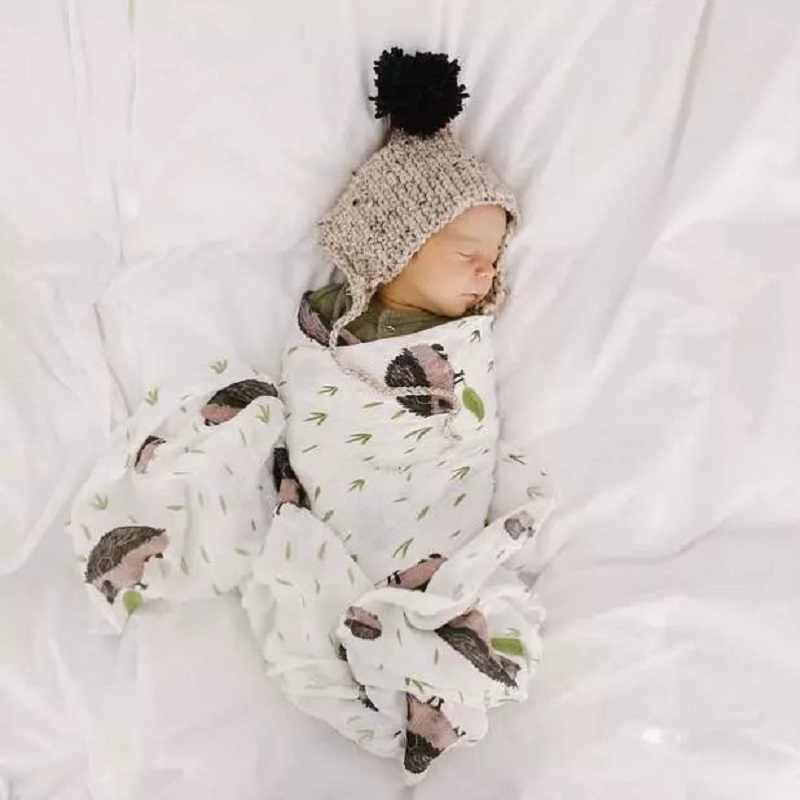ผ้าฝ้าย 100% น่ารักพิมพ์ผ้าห่มสำหรับทารกแรกเกิด Swaddle Wrap Comfy Muslin ผ้าฝ้าย Muslin ผ้าห่มทารกผ้าห่ม