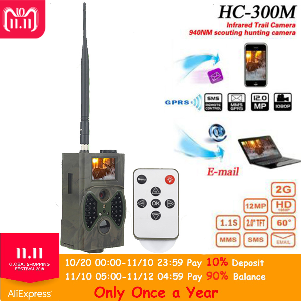 HC300M 12M Hunting Trap Camera HD 1080P Digital Scouting Trail Camera GPRS MMS GSM 940NM Infrared Night Vision Hunting Camera suntek infrared trail photo traps hc300m animal observation scouting camera game hunting camera 940nm night vision camera trap
