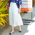 [XITAO] high quality 2016 Europe United States fashion women white chiffon pleated skirt casual A-Line ankle-length skirt MF-020