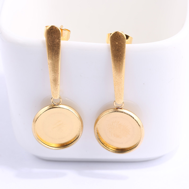 onwear 5 pairs stainless steel 12mm dia earring bezels diy blank gold plated cameo base blank trays for earrings jewelry makingonwear 5 pairs stainless steel 12mm dia earring bezels diy blank gold plated cameo base blank trays for earrings jewelry making