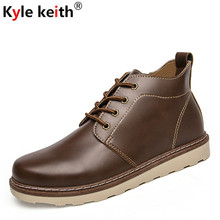 Kyle Keith New Arrive Men Shoes Spring Autumn Ankle Boots Men Comfortable Lace Up Shoes Men Casual Male Martin Boots