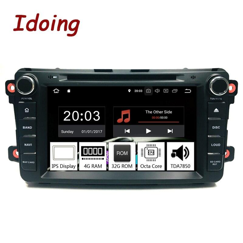 Idoing 2Din Android8.0 для Mazda CX9 DVD плеер автомобиля 8 gps навигации 4 г + 32 телефон ссылка данные беспроводного обмена автомобиля радио быстрая загрузка