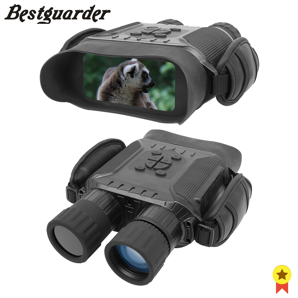 Bestguarder Monocular 5x Zoom Large Widescreen Night Vision 400m IPX4 32G TF 850NM infrared HD IR Camera Photo Video Binoculars nv400b digital infrared ir night vision large screen binoculars telescope camera video recorder for outdoor sightseeing