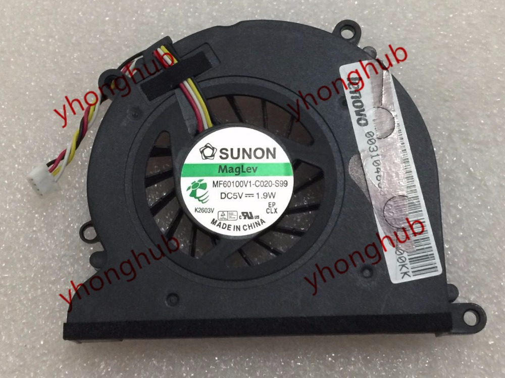 Free Shipping For SUNON MF60100V1-C020-S99 DC 5V 1.9WA 4-wire 4-pin connector Server Laptop Fan free shipping for sunon eg50040v1 c06c s9a dc 5v 2 00w 8 wire 8 pin server laptop fan