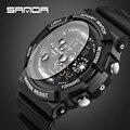 2016 SANDA Люксовый бренд человек Цифровые часы мода Развлечения спортивные Часы LED Наручные Часы relogio masculino Бесплатная Доставка
