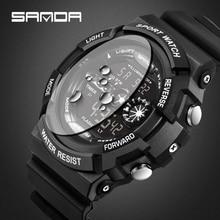 2016 SANDA Luxury brand man Digital watch fashion Entertainment sports Watches LED Wristwatches relogio masculino Free Shipping