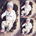 GSCH Newborn Baby Clothing Sets 3pcs Deer Romper + Pants + Hat Outfit for Boys Girls Infant Baby Clothes Suit Kids Bodysuit