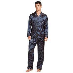 Image 3 - Tony & Candice Nam Vết Bẩn Lụa Pyjama Set Nam Bộ Đồ Ngủ Quần Áo Ngủ Lụa Nam Sexy Hiện Đại Phong Cách Mềm Mại Ấm Cúng Satin váy Ngủ Nam Mùa Hè