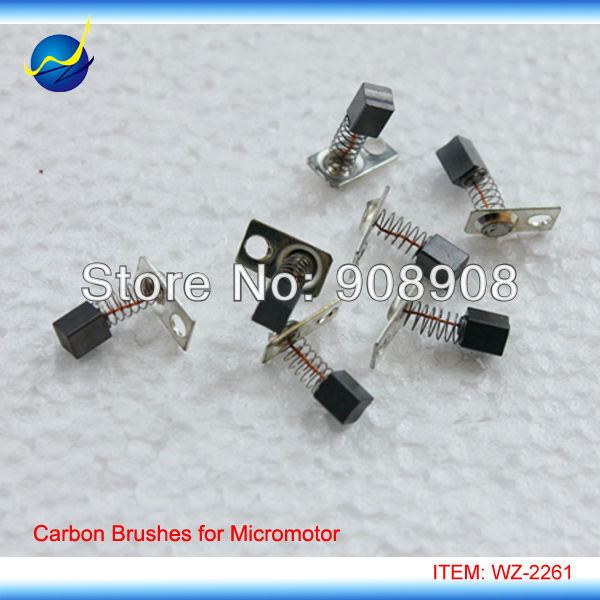 4 Pcs 3.4mm * 3.4mm * 5mm Carbon Brush for H37L1, H35SP1, M45, H102S, L102S Electric Brush Micromotor Handpiece Spare Parts