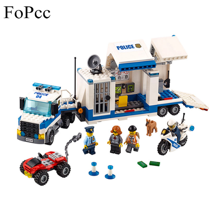 цены на Baby Toys 02017 City Street Police Station Mobile Command Center Building Blocks Educational Toys For Children Christmas Gift