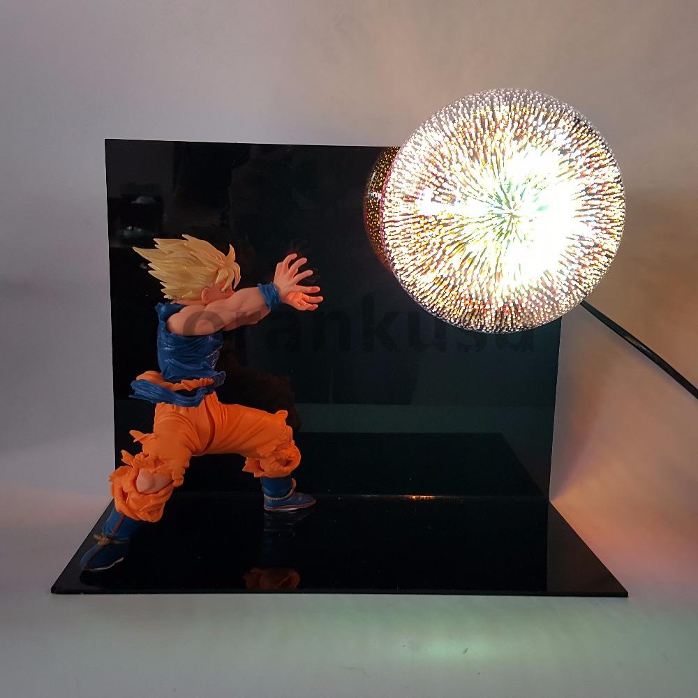 Dragon Ball Super Saiyan Goku Kamehameha LED Light Figure
