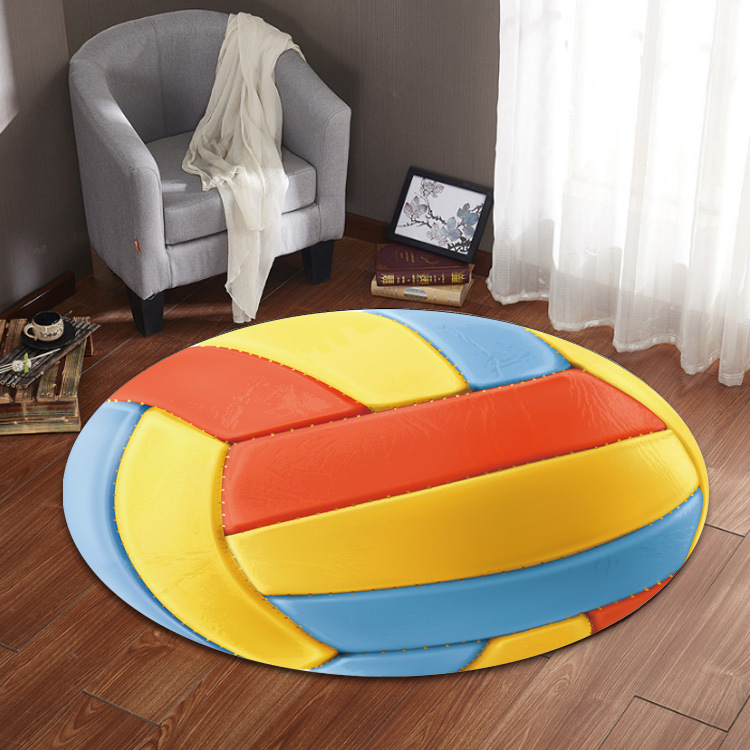 Ball Round Carpet Football Basketball Living Room 14 Styles Children Kid Boys Bedroom Chair Rug Toilet Bath Mat Decorate Carpet