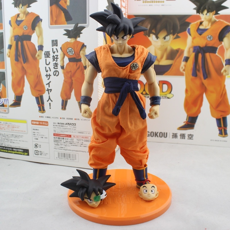 Dragon Ball Z DOD Son Goku PVC Action Figure 21CM Model Toy dod dimension of dragon ball z super saiyan 3 son goku pvc action figure collectible model toy 21cm