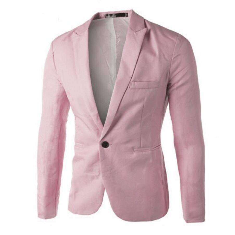 Nieuwe collectie Mannen Pak Blazer Mannen Effen Kleur Modieuze Toevallige Blazer Een Knop Blazer Suits jacket bruidsjonkers jasje - 5