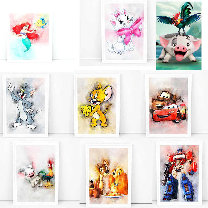 5D Diamant malerei Cartoon Disney Winnie Pooh katze Minions Volle Quadratmeter Diamant stickerei Kreuz stich Volle Runde Diamant mosaik
