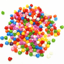 цена на 100Pcs Mixed color Mini Mushroom Resin Buttons 5mm Handmade Sewing Tools Diy Decorative Clothing accessories