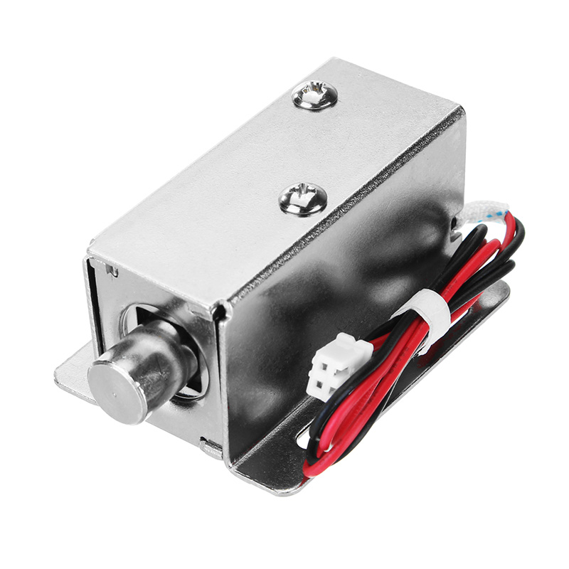 12V DC 0.8A Electric Lock Assembly Solenoid Cylindrical Cabinet Door Drawer Lock
