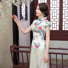 มาใหม่ฤดูร้อนสไตล์จีนผ้าไหมผู้หญิงถังสูทท็อปส์เสื้อแบบดั้งเดิมที่สง่างามบางเสื้อยืดMl XL XXL XXXL A0098