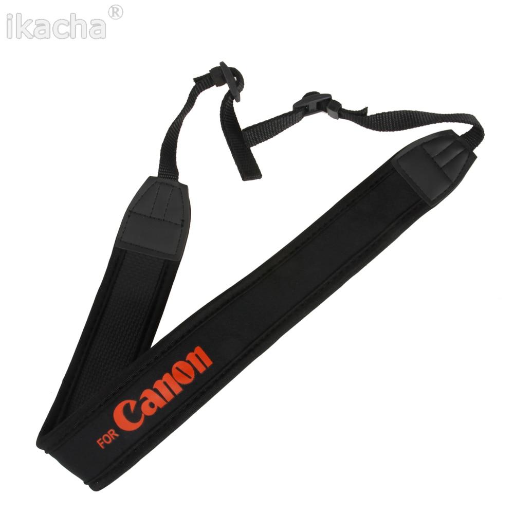 Black Camera Shoulder Neck Strap Fit For Canon 6D 60D 80D 7D 550D 1300D 5D 750D Mark II III IV 200D 1100D 1300D Camera Dslr