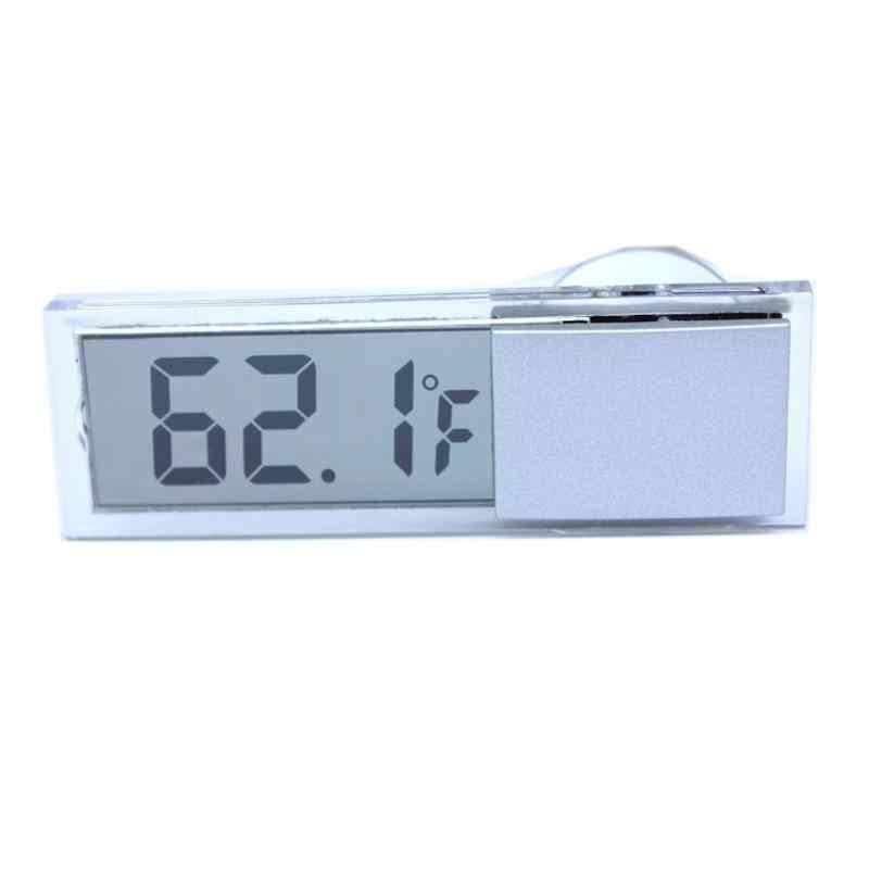 Electronic LCD Vehicle-mounted Tester Osculum Type Digital Thermometer Window Celsius Fahrenheit Car Thermometer Digital Clock