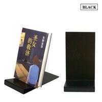 Linliangmuyu 5ピース卸売黒鉄良い品質ブックディスプレイケーススタンドラックホル
