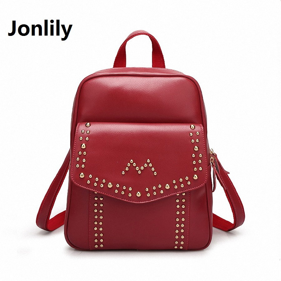 Jonlily Split Leather Women s Bags Elegant Chic Clever Beautiful Elegant Simple All match Backpack Fashion