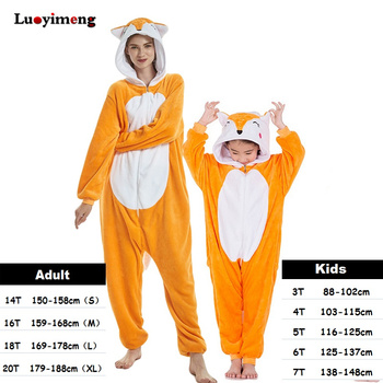 7e56e1c560 Los Pijamas de los niños de las mujeres Kigurumi Pijamas de franela de  invierno de Anime unicornio pijama niños niñas Pijamas mono con capucha de  bebé de ...