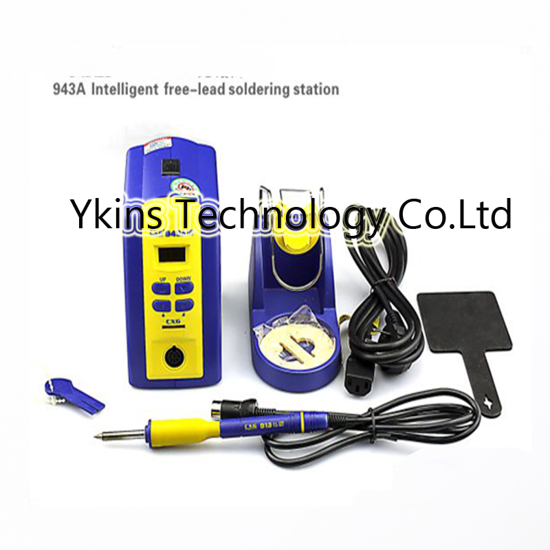 CXG-943A 943A ESD Intelligent free-lead soldering station +T12 -I solder tip 110V 220V 95W lf005 t12 digital soldering station handle t12 i solder tip for bk950d