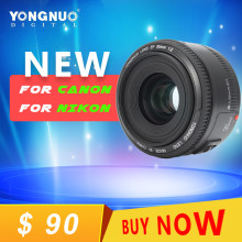 YongNuo 35mm lens YN35mm F2 lens Wide-angle Large Aperture Fixed Auto for Focus Lens For canon For NIKON EF Mount EOS Camera
