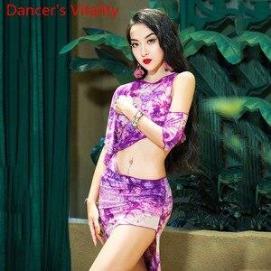 Image 2 - Belly Dance Practice Clothes Oriental Top Skirt with Underpants Set Beginner Spring Summer Sexy Women Oriental Dance Wear