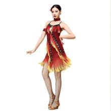 New 2017 Belly Dance Costume Latin salsa tango Cha Ballroom Flamenco Dress M/L