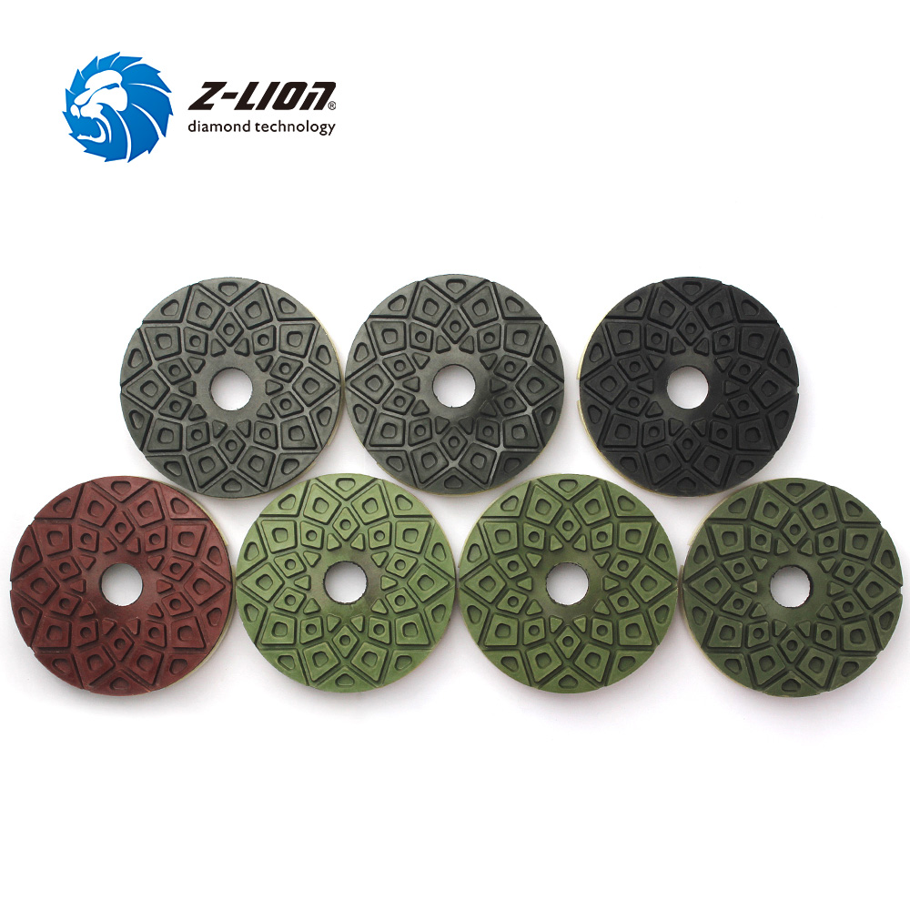 Z LION 5 7pcs Lot Edge Polishing Pad Snail Lock Granite Marble Polishing Wheel Diamond Abrasive