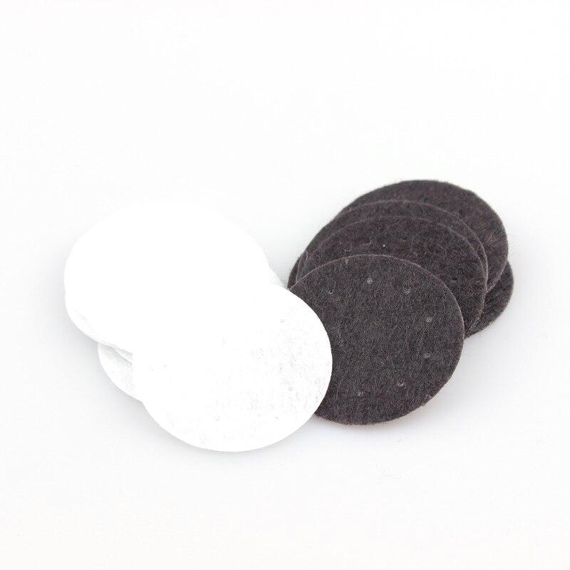 100 шт. DIY 25/30/40 мм белый и черный круглый тканевые подкладки аксессуар патчи круглые фетровые диски ткани цветочные аксессуары