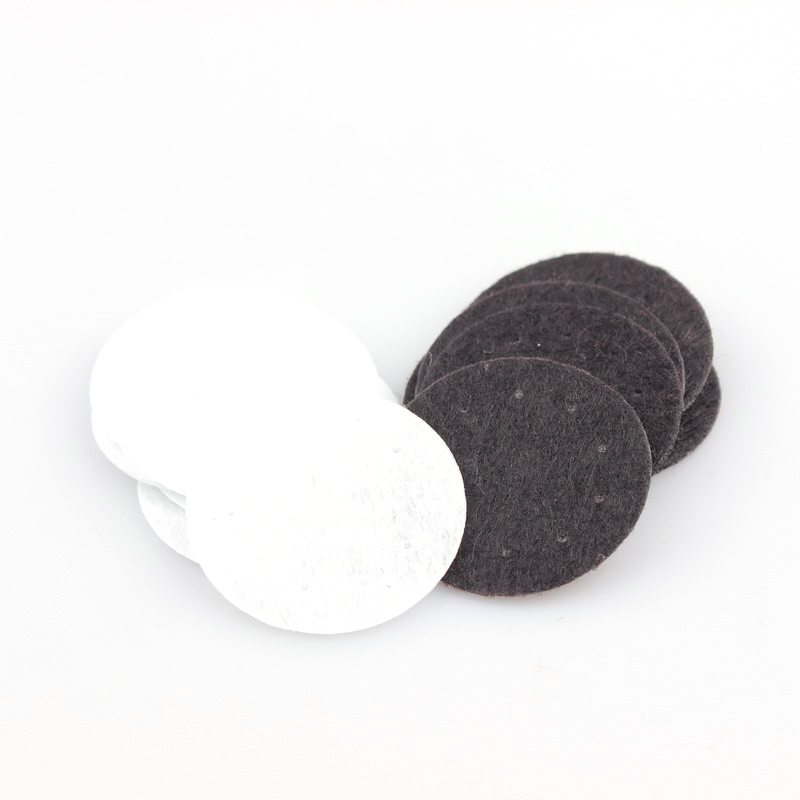100PCS DIY 25/30/40mm White And Black Round Felt fabric Pads Accessory Patches Circle Felt Pads Fabric Flower Accessories