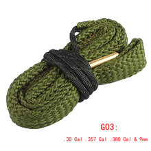 Airsoft .38 Cal .357 Cal .380 Cal & 9mm Cleaning Rope Gun Barrel Cleaner Brushes Tool Hunting Accessories RL37-0035-G03