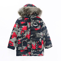 The new boy's 2016 British wind down jacket camouflage with hood cotton-padded clothes with thick coat jacket