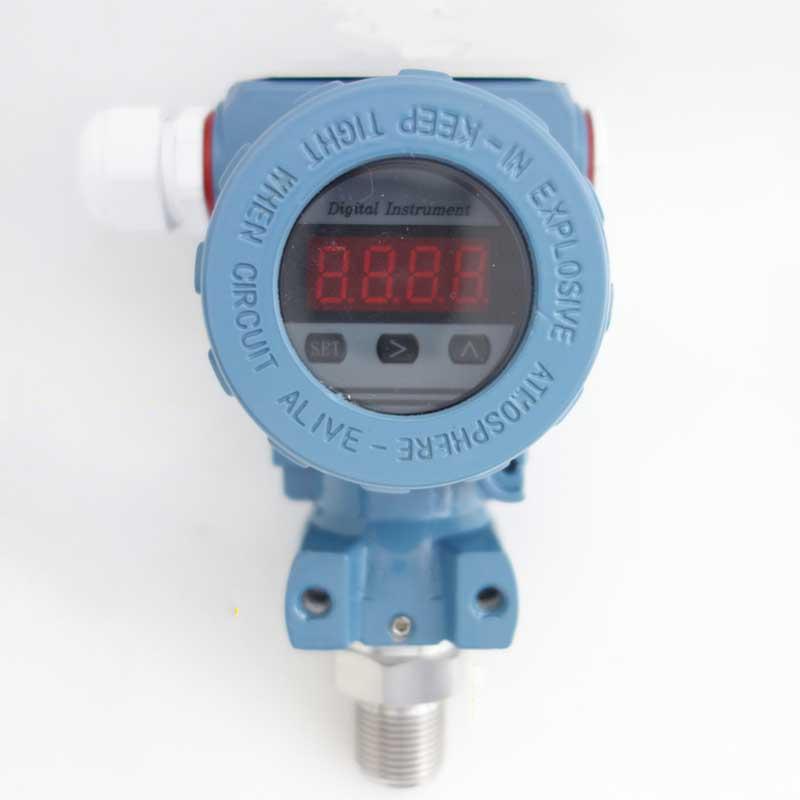 0-6-100Kpa Intelligent LED Silicon Pressure Transmitter Pressure Transducer G1/4 4-20mA output 0 1 0mpa compact high temperature pressure transmitter vapor pressure transmitter diffusion silicon pressure sensor