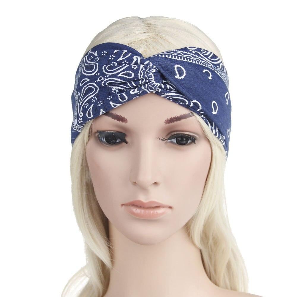 Detail Feedback Questions about New 2018 Boho Women s Hair Band Turban  Headband Rock Cool Girls Ethnic Print Elastic Headbands for Women Sporty  Hair ... 4ce2773ba9e5