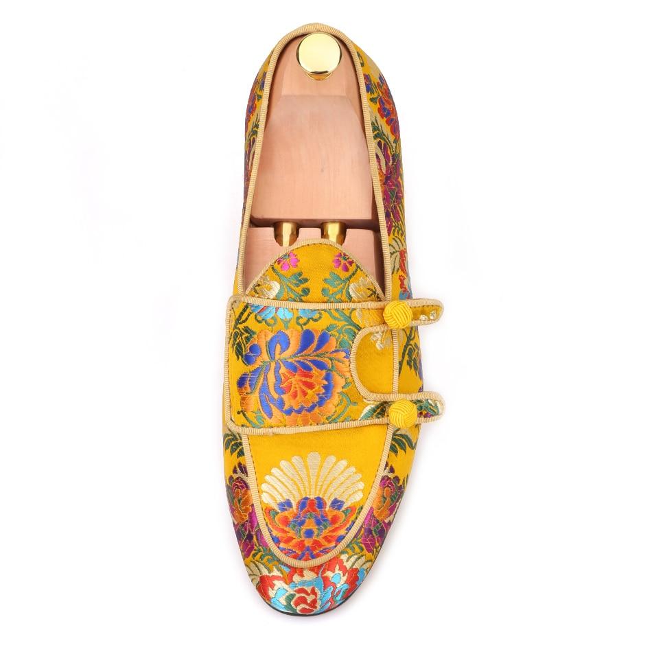 Pierigtar new arrival Italian brand superglamourous same designs luxury flower silk shoes Handmade men loafers men wedding shoes