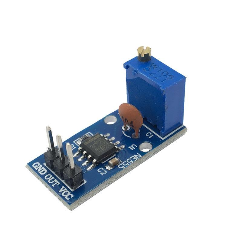 Генератор импульсов NE555 с регулируемым сопротивлением, модуль с одноканальным выходом для умного автомобиля Arduino, 5 в постоянного тока, 12 В