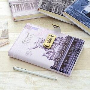Image 4 - Nowy osobisty pamiętnik notatnik z kodem blokady biznes A5 gruby notatnik codzienne notatki biuro szkolne prezent