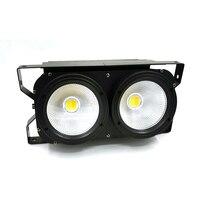 Lote de lámparas COB de iluminación 2x100W LED luz cegadora 2 ojos COB bañador LED de alta potencia DMX iluminación de escenario lámparas COB|Efecto de iluminación de escenario| |  -