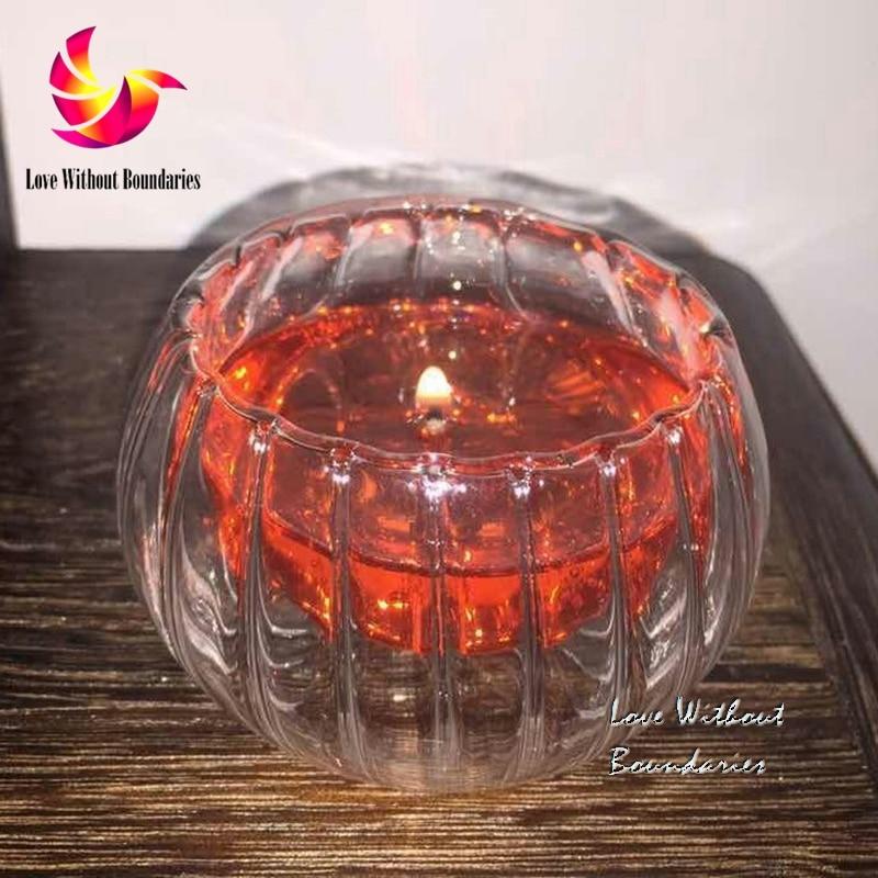 Romantik alev hediye, benzersiz rüya ateş, kristal kabak mum, - Ev Dekoru - Fotoğraf 3