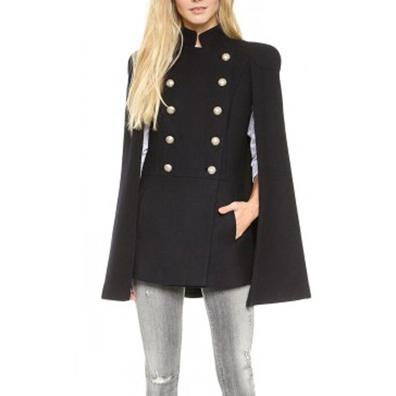 Women 2018 Autumn Winter Slim Womans Shawl Coat Simple Black Plus Size Tops Casaco Femin ...
