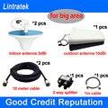 HOT Full Set Antenas y Cable para CDMA 850/GSM 900/1800/1900 PCS/3G 2100 amplificador de Señal Del Repetidor Del Amplificador Puede Cubrir un Área Grande
